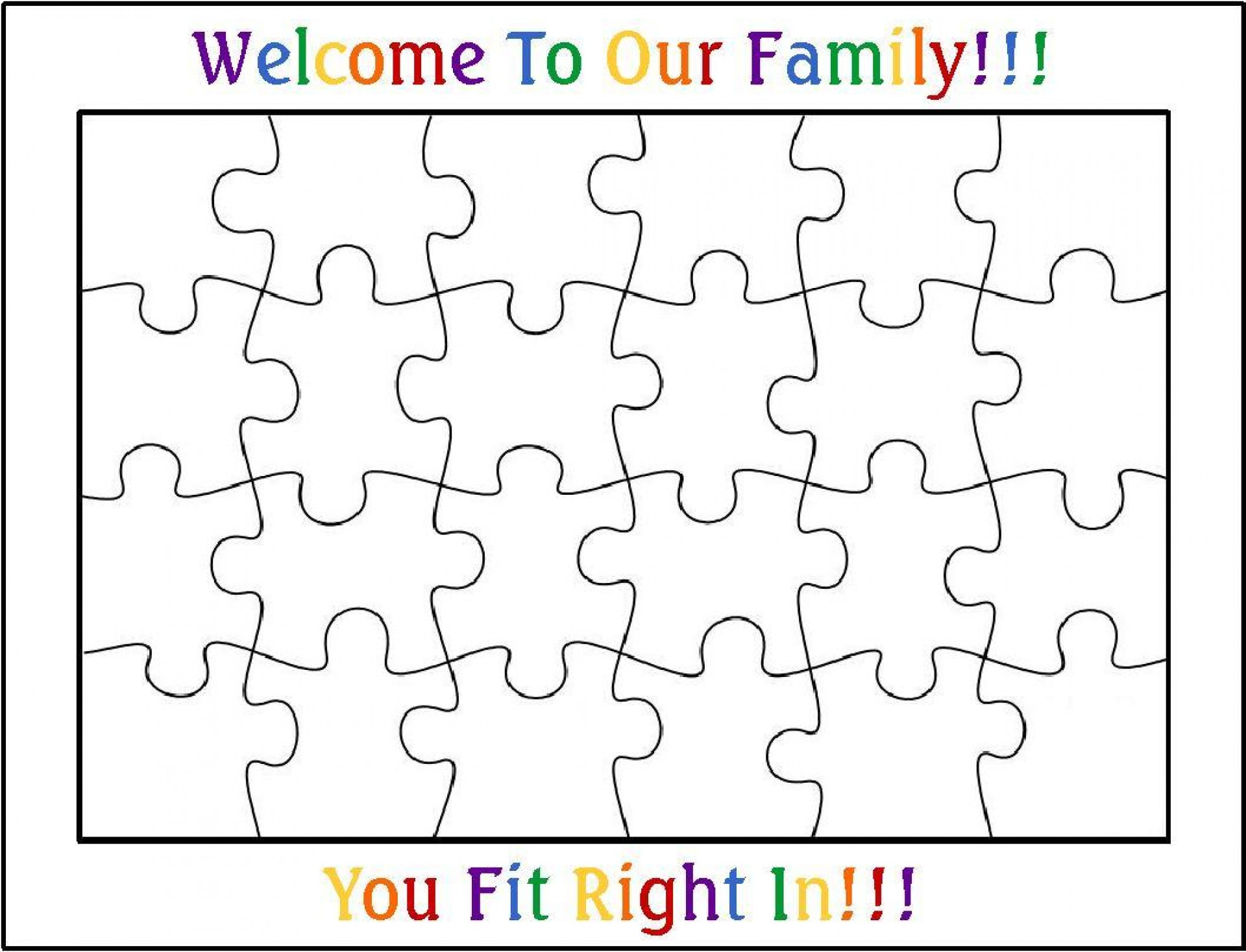002 Blank Puzzle Pieces Template Ideas Best Jigsaw Piece Printable - 2 Piece Puzzle Printable