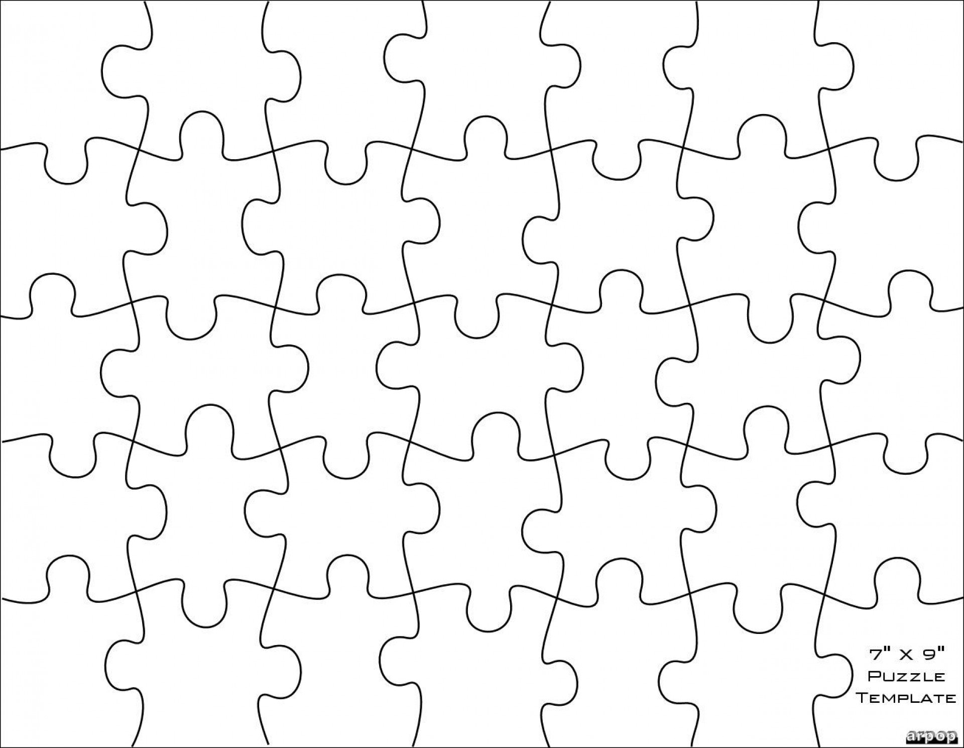 006 Jigsaw Puzzle Blank Template Twenty Pieces Simple Jig Saw - Printable Jigsaw Puzzle Maker Download