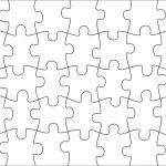 006 Jigsaw Puzzle Blank Template Twenty Pieces Simple Jig Saw   Printable Puzzle Blank