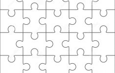 010 Jig Saw Puzzle Template Jigsaw Blank Twenty Pieces Simple Best   Printable Jigsaw Puzzle Template Generator