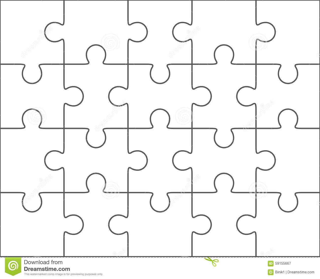 010 Jig Saw Puzzle Template Jigsaw Blank Twenty Pieces Simple Best - Printable Jigsaw Puzzle Template Generator