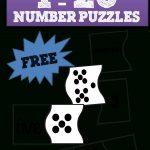 1 20 Number Puzzles | School | Numbers Kindergarten, Preschool Math   Printable Number Puzzles For Preschoolers