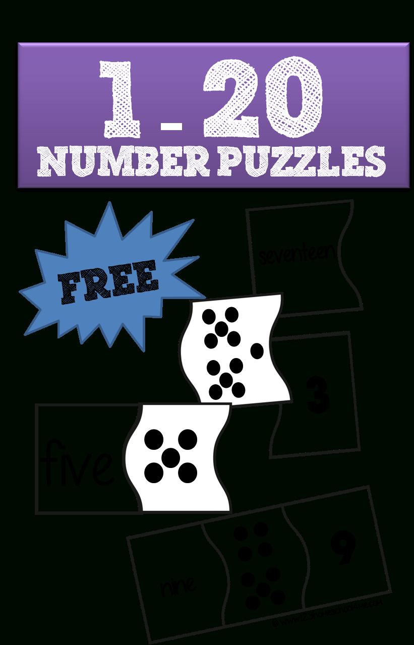 1-20 Number Puzzles | School | Numbers Kindergarten, Preschool Math - Printable Number Puzzles For Preschoolers