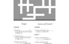 1 Nephi 1 7 (Book Of Mormon Lesson 2) |   Printable Character Traits Crossword Puzzle