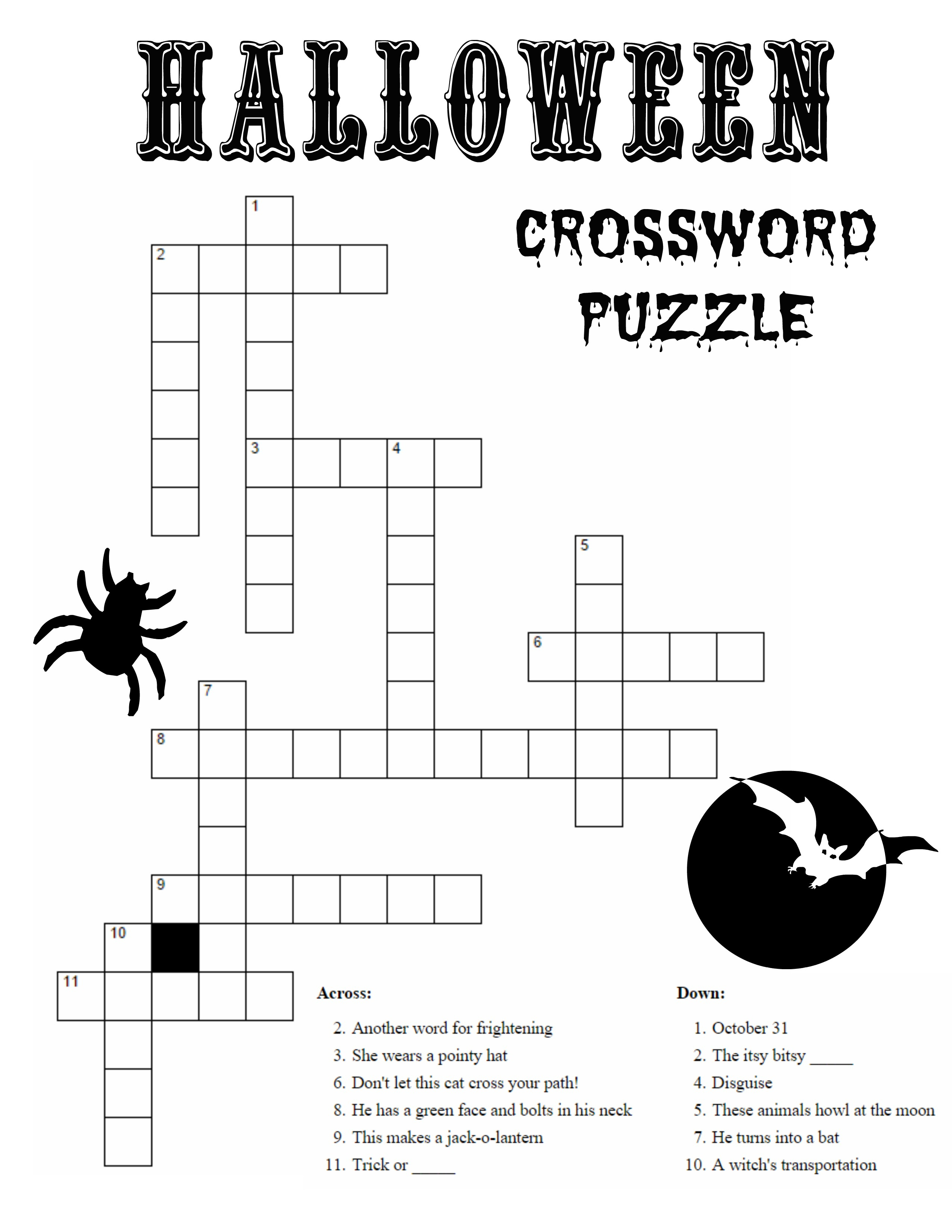 10 Best Photos Of Printable Halloween Word Puzzles - Halloween Word - Halloween Crossword Puzzles For Adults Printable