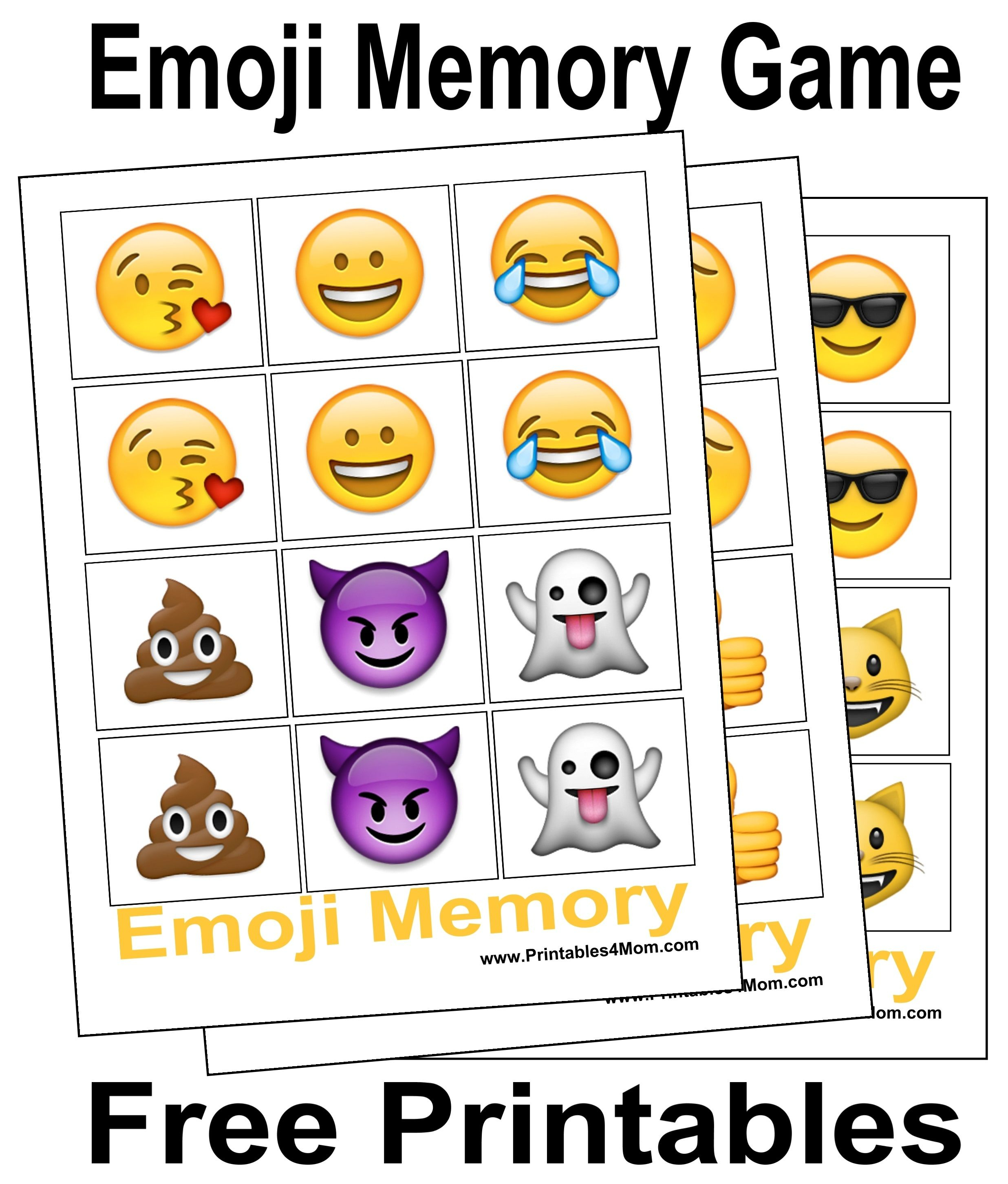 10 Free, Last Minute Printable Stocking Stuffer Games | Emotions - Printable Emoji Puzzles