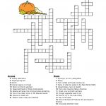 10 Superfun Thanksgiving Crossword Puzzles | Kittybabylove   Printable Thanksgiving Crossword Puzzles For Middle School