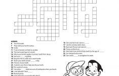 11 Dental Health Activities Puzzle Fun (Printable) | Dental Hygiene   Printable Personal Hygiene Crossword Puzzle