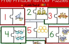 12 Days Of Christmas Free Printable Number Puzzles     Printable Number Puzzles For Kindergarten