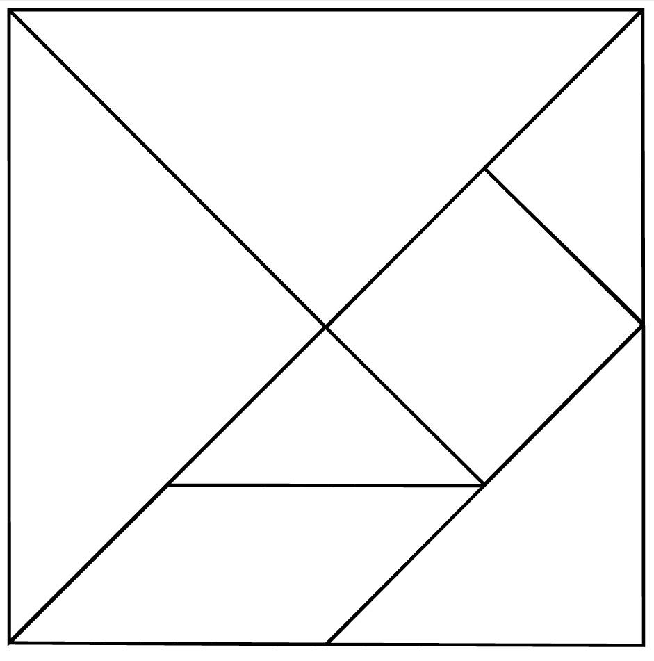 14 Best Images Of Kindergarten Tangram Worksheets - 7 Piece Tangram - 7 Piece Tangram Puzzle Printable