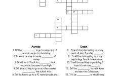 15 Best Photos Of Esl Printable Worksheets Crossword – Printable – Printable Crossword Puzzle For Esl Students