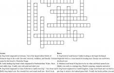 15 Dog Breed Crossword Puzzle Crossword   Wordmint   Dog Crossword Puzzle Printable