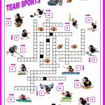 16 Free Esl Sports Crossword Worksheets   Free Printable Sports   Printable Sports Crossword Puzzles For Adults
