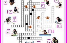 16 Free Esl Sports Crossword Worksheets – Free Printable Sports – Printable Sports Crossword Puzzles For Adults