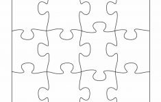 19 Printable Puzzle Piece Templates ᐅ Template Lab   Printable Blank Jigsaw Puzzle Outline