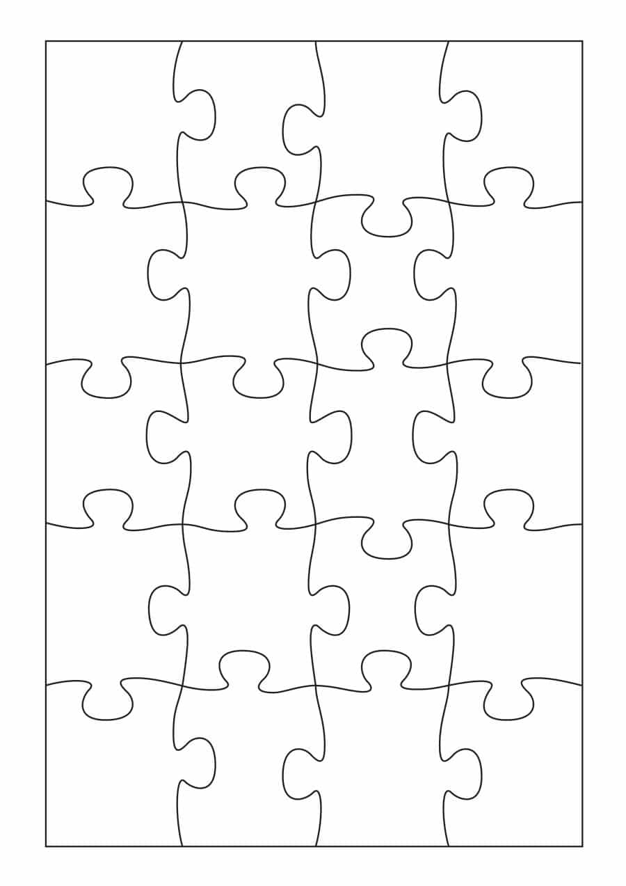 19 Printable Puzzle Piece Templates ᐅ Template Lab - Printable Puzzle Template 8.5 X 11