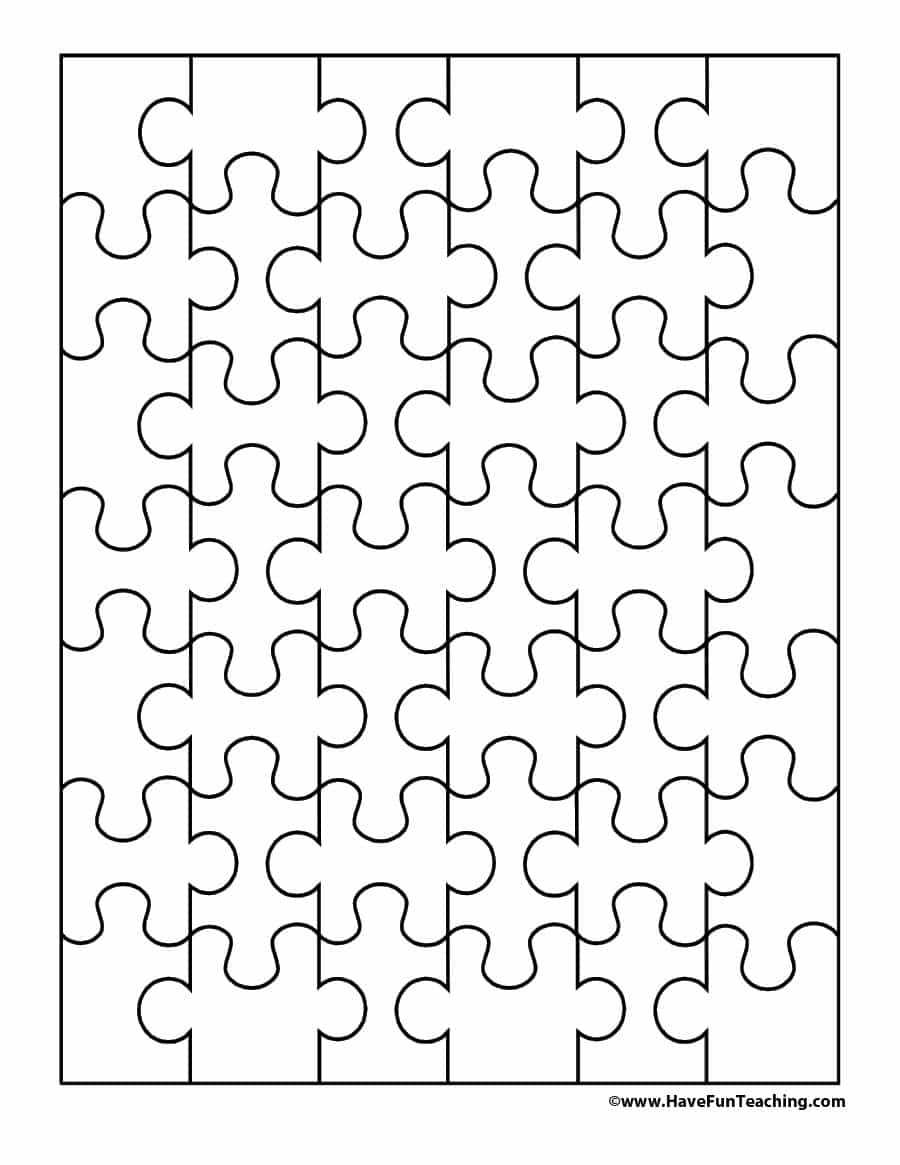 19 Printable Puzzle Piece Templates ᐅ Template Lab - Printable Puzzles Pieces