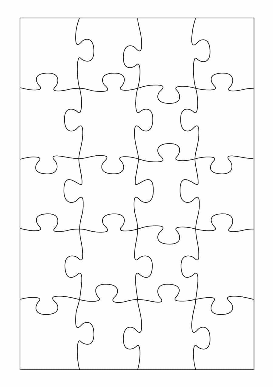 19 Printable Puzzle Piece Templates ᐅ Template Lab - Printable Shape Puzzles
