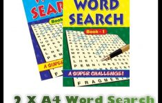 2 X A4 Large Print Word Search Puzzle Book Books 272 Puzzles A4   Puzzle Print Uk