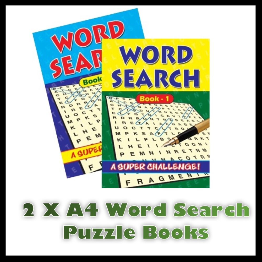 2 X A4 Large Print Word Search Puzzle Book Books 272 Puzzles A4 - Puzzle Print Uk