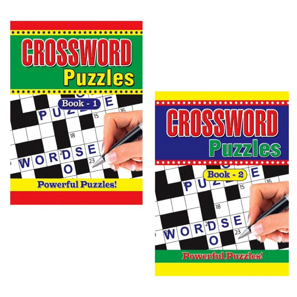 2 X Large Print Crossword Puzzle Books Book 325 Puzzles A4 Pages - Puzzle Print Uk
