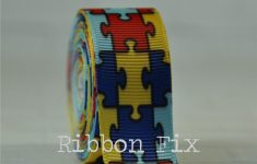 2 Yards 7/8 Autism Awareness Puzzle Print Grosgrain | Etsy   Puzzle Print Ribbon