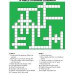 20 Fun Printable Christmas Crossword Puzzles | Kittybabylove   Christmas Printable Crossword Puzzles Adults