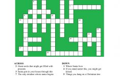 20 Fun Printable Christmas Crossword Puzzles | Kittybabylove   Printable Holiday Crossword Puzzles For Adults