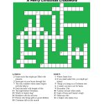 20 Fun Printable Christmas Crossword Puzzles | Kittybabylove   Printable Xmas Crossword Puzzles