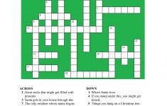 20 Fun Printable Christmas Crossword Puzzles | Kittybabylove   Printable Xmas Crossword Puzzles