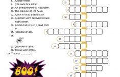 23 Free Esl Halloween Crossword Worksheets   Halloween Crossword Puzzle Printable