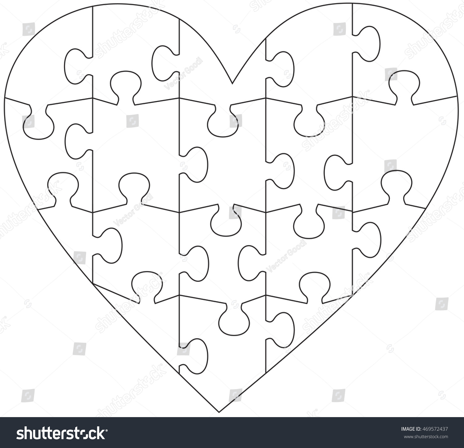 26 Images Of Compound Word Puzzle Heart Template | Unemeuf - Printable Heart Puzzles