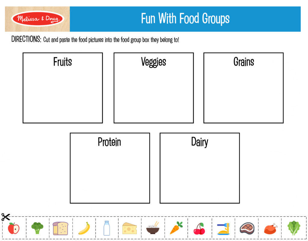 3 Free Printables For Kids Nutrition Activities! | Melissa & Doug Blog - Printable Nutrition Puzzles