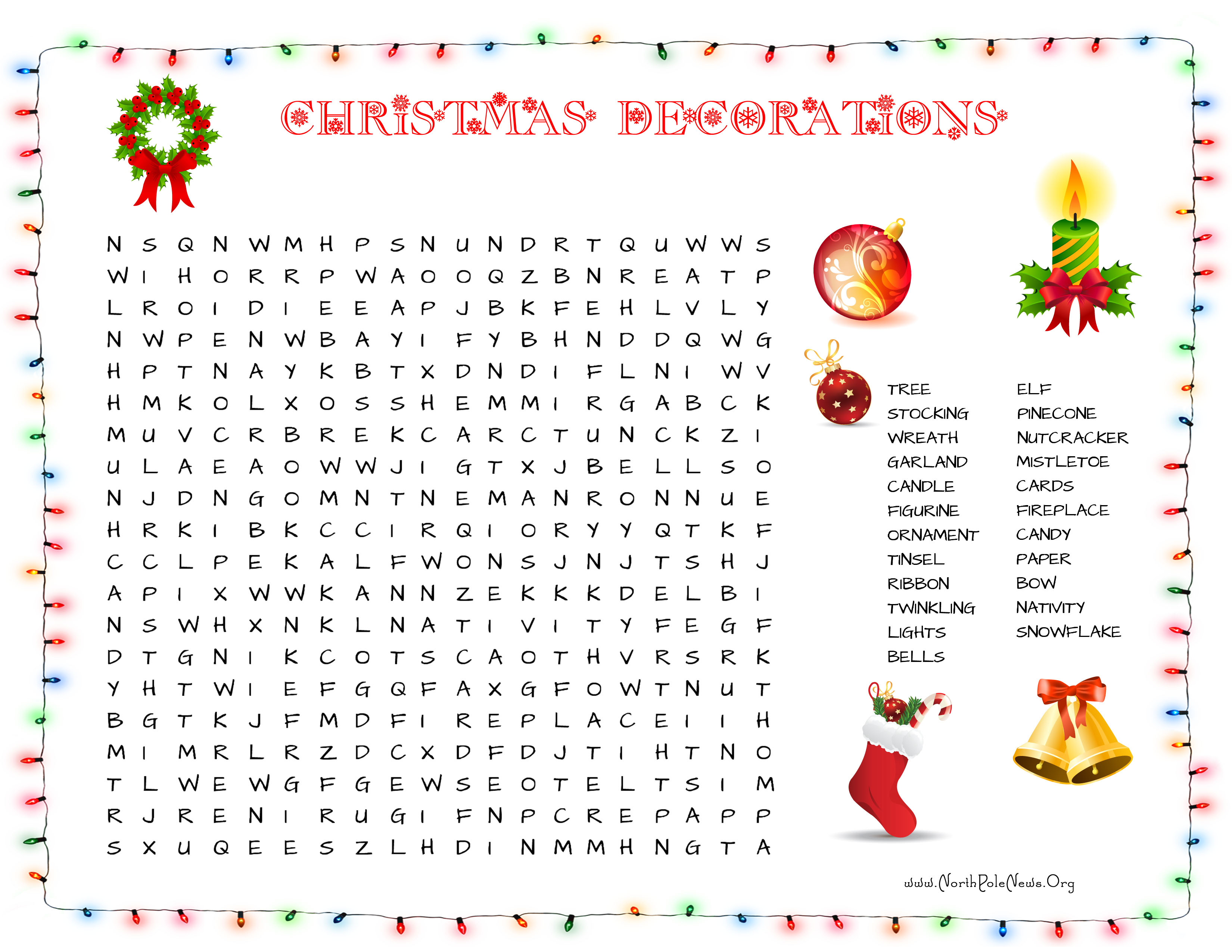 31 Free Christmas Word Search Puzzles For Kids - Printable Christmas Word Puzzle