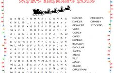 31 Free Christmas Word Search Puzzles For Kids   Printable Puzzle Christmas