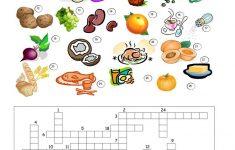 32 Free Esl Food Crossword Worksheets   Printable Crossword Puzzles About Food