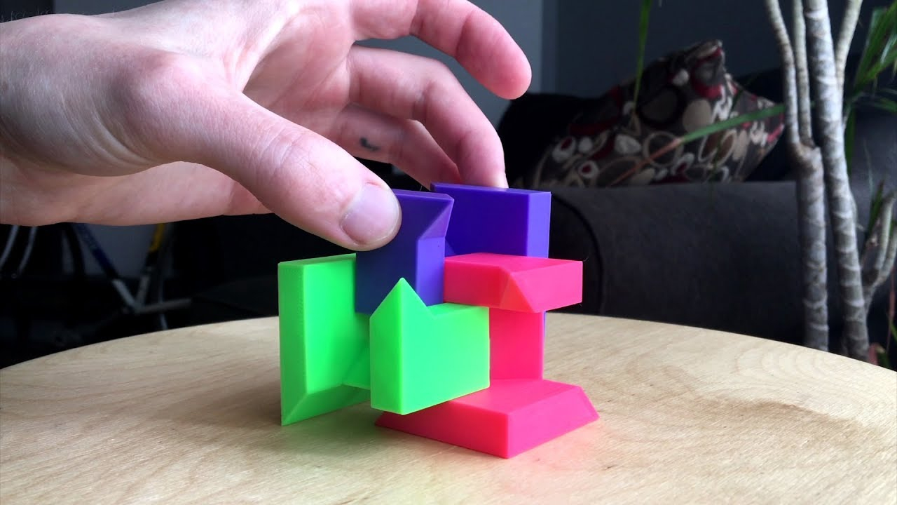 3D Printed Puzzle Cube! (Demonstration) - Youtube - 3D Printable Puzzles Cube