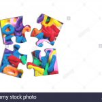 3D Rendering Of An Isolated Puzzle Pieces With Hairband Print On   Print On Puzzle