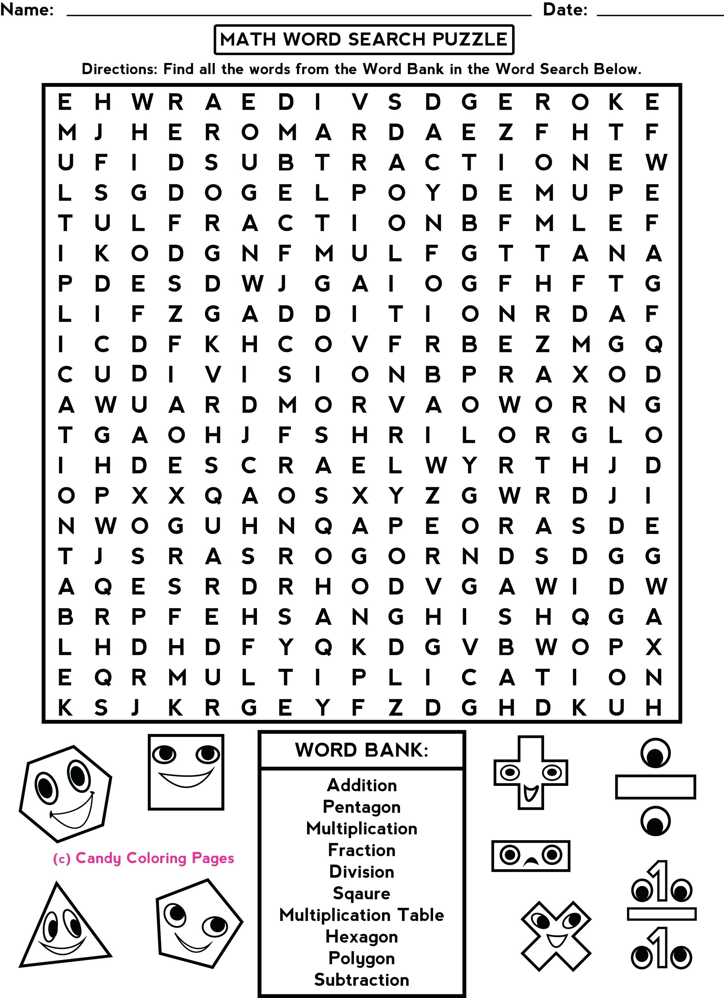 4Th Grade Math Puzzles Fun Worksheets For Middle School Sear On - Printable Toothpick Puzzles