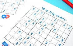 4Th Of July Printable Sudoku Puzzles + Logic Puzzle   Happiness Is   Printable Puzzles To Pass Time