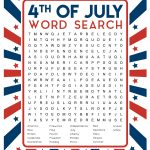 4Th Of July Word Search Printable   Happiness Is Homemade   Printable July 4Th Puzzles