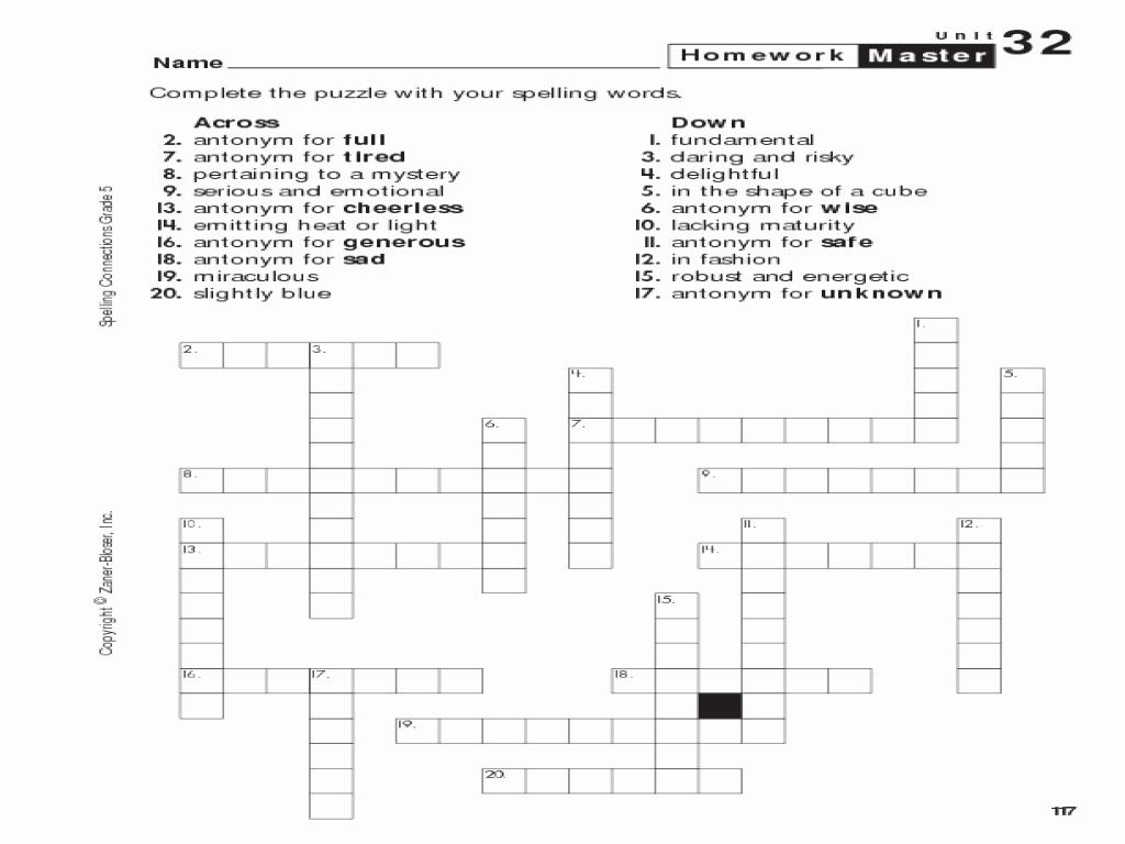 5Th Grade Math Puzzles Unique 7 Best Math Puzzle Boxes Images On - Crossword Puzzle Printable 5Th Grade