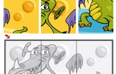 6 Piece Jigsaw Puzzle With A Dragon | Free Printable Puzzle Games   Printable Jigsaw Puzzles 6 Pieces
