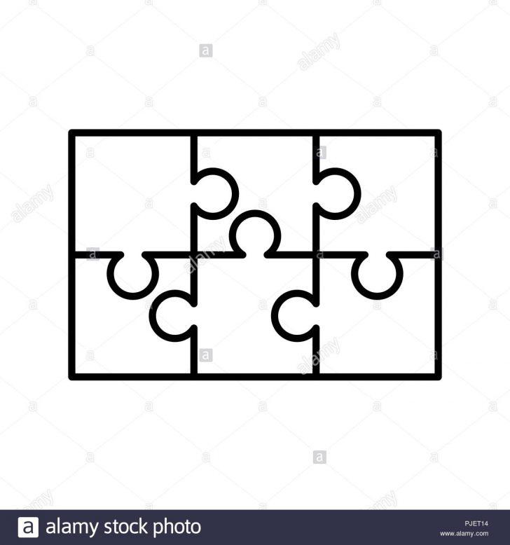 6 Piece Printable Puzzle