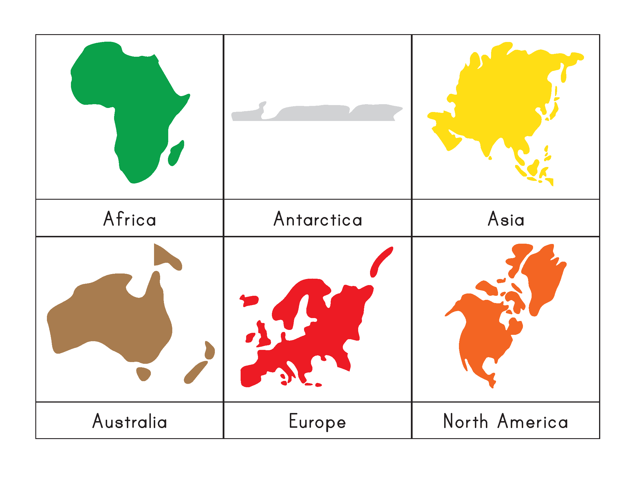 7 Continents Coloring Page | Free Download Best 7 Continents - 7 Continents Printable Puzzle
