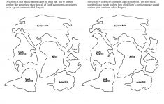 7 Continents Cut Outs Printables | World Map Printable | World Map   7 Piece Printable Puzzle