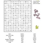 7 Printable Spring Word Searches | Kittybabylove   Printable Spring Puzzle