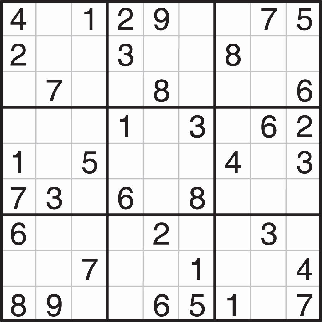 7@ Sudoku Puzzles To Print | Logo Logo Site - Printable Sudoku Puzzles 1 Per Page