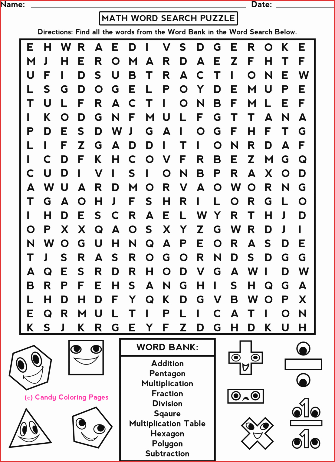 7Th Grade Crossword Puzzles Fresh 7Th Grade Math Word Search - Printable Crosswords For 6Th Grade