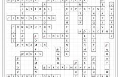 7Th Grade Math Vocabulary Crossword   7Th Grade Math Worksheets   Math Vocabulary Crossword Puzzles Printable